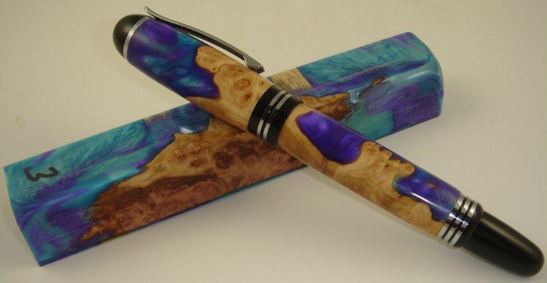 Bear Tooth Woods - Wood/Alumilite Amalgam-Mutt Pen Blank #88